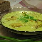 Суп чечевичный с ананасами и курицей