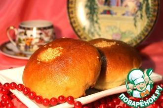Рецепт: Сладкие японские булочки Ан-пан с фасолью