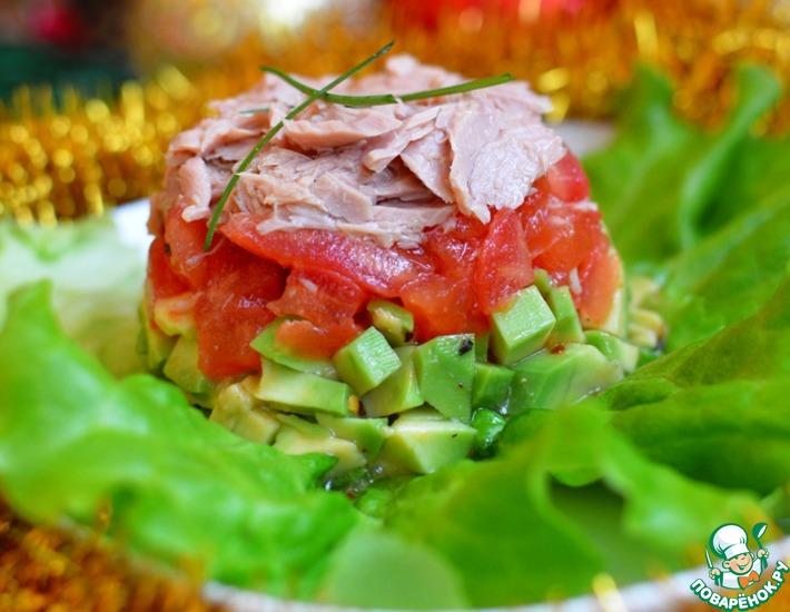 Рецепт: Тимбал из авокадо и тунца
