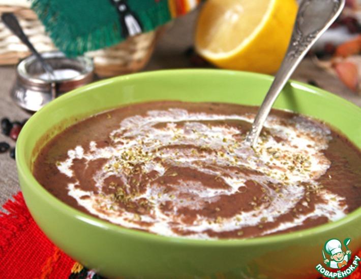 Рецепт: Пряный суп из фасоли