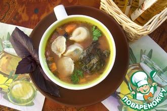 Рецепт: Фасолевый суп с равиоли