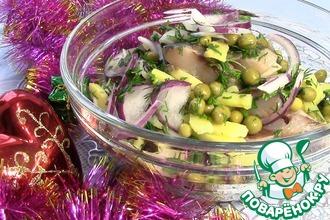 Рецепт: Салат из сельди и горошка