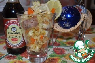 Рецепт: Салат с куриной печенью и перцем