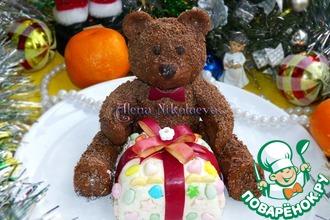 Рецепт: Шоколадный мишка с подарком-сюрпризом
