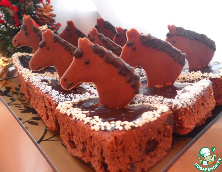 Рецепт: Новогодние брауни Ход конем