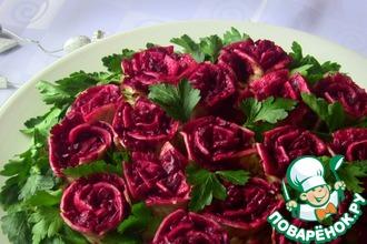 Рецепт: Новогодний салат Розы