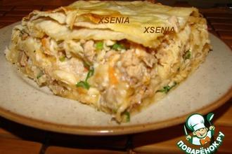 Рецепт: Мясной пирог из лаваша