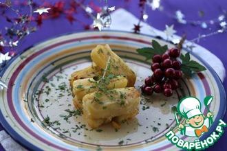 Рецепт: Праздничный слоеный картофель