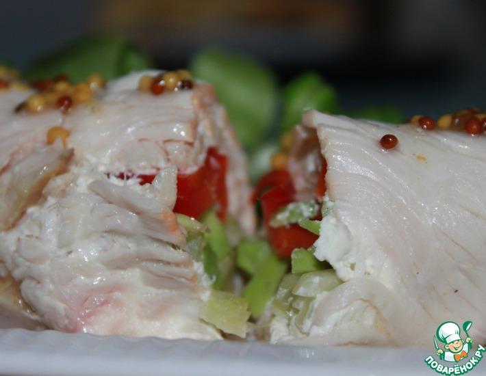 Рецепт: Мясной ролл Индюшка с овощами