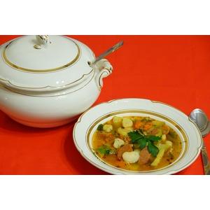 Суп с фасолью и клецками