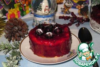 Рецепт: Творожный пудинг с ягодным топпингом