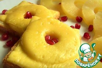Рецепт: Бутерброды с ананасами и сыром