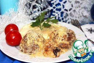 Рецепт: Тефтели в сливочно-грибном соусе