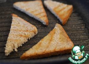 Тосты с пармезаном и голубым сыром – кулинарный рецепт