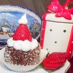 Пирожное Шапочка Санта Клауса