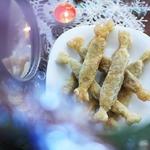 Новогодние хлопушки с курицей и грибами
