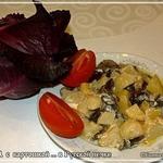 Опята с картофелем из русской печки