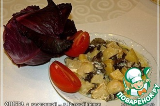 Рецепт: Опята с картофелем из русской печки