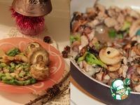 Новогодние хлопушки с курицей и грибами ингредиенты