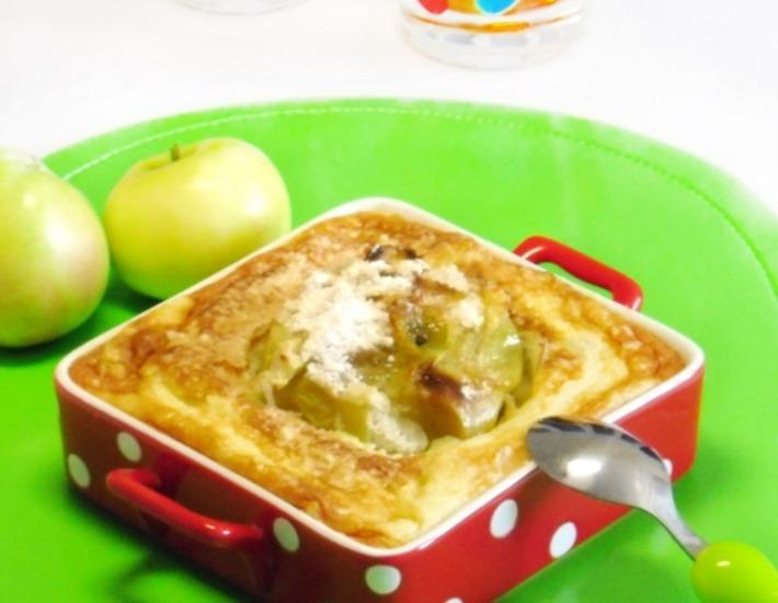 Рецепт: Яблоки в манном суфле