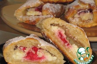 Рецепт: Печенье творожно-овсяное с мармеладом