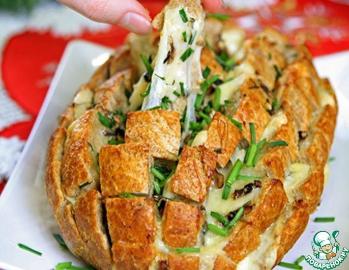 Рецепт: Сырный хлеб с грибами