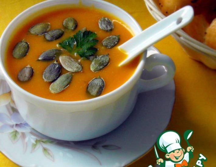 Рецепт: Суп-пюре из запеченной тыквы