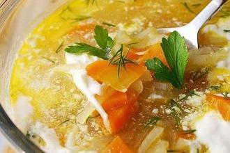 Рецепт: Суп с сельдереем Легкий