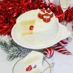 Красно-белый торт на белом шоколаде