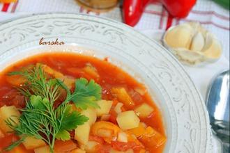 Рецепт: Постный суп-гуляш