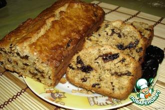 Рецепт: Овсяный кекс с черносливом