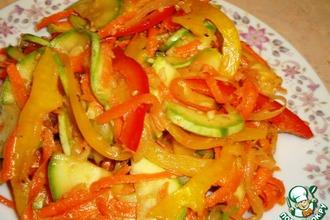 Рецепт: Салат из кабачков по-корейски