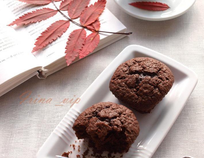 Рецепт: Заварные шоколадные маффины