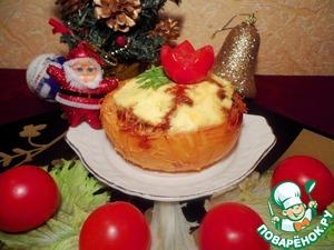 Рецепт Жульен из баранины в кокотницах из айвы