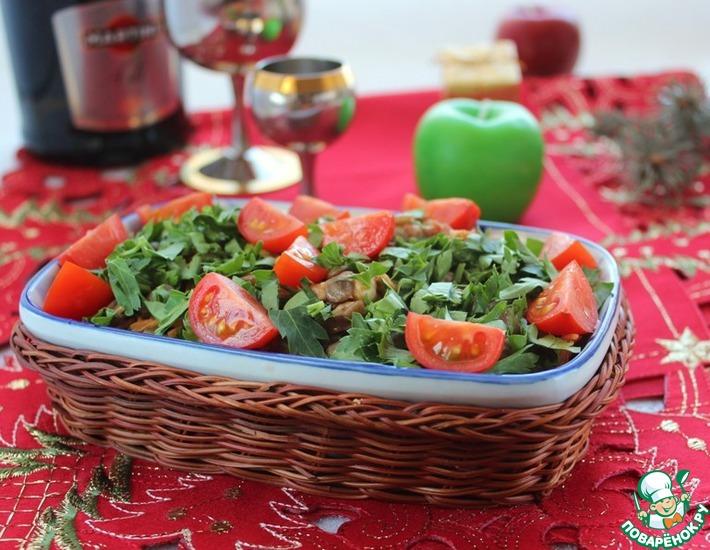 Рецепт: Салат из чечевицы