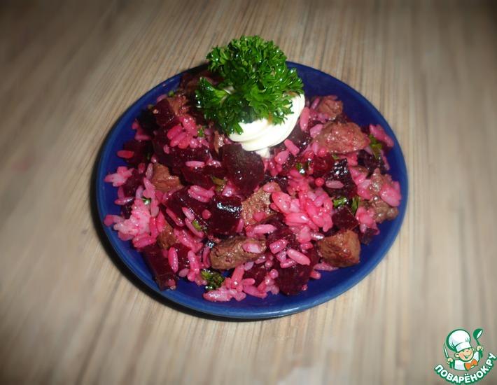 Рецепт: Теплый салат с печенью и свеклой