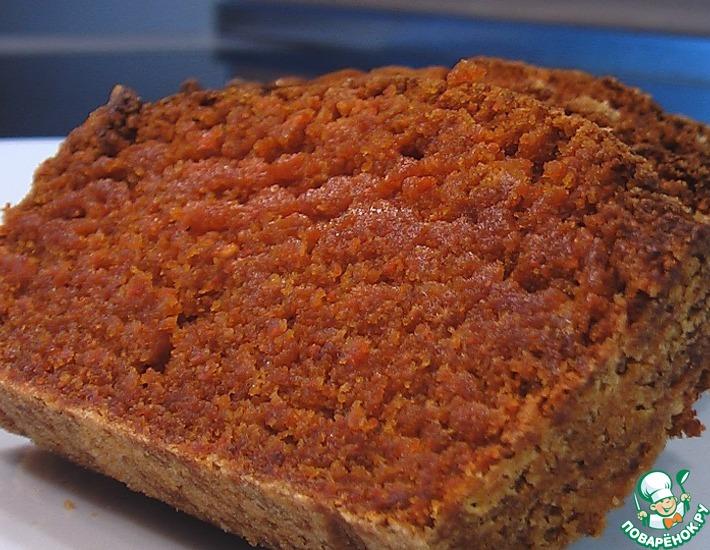 Рецепт: Кекс из морковной муки