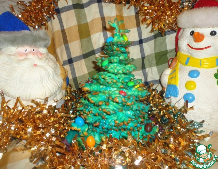Рецепт: Новогодний торт Елочка
