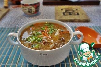 Рецепт: Китайский кисло-сладкий суп