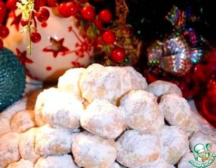 Рецепт: Рождественское миндальное печенье Курабьедес