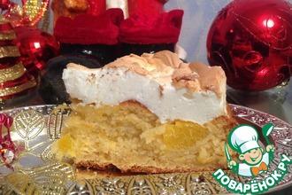 Рецепт: Пирог Апельсин под снегом