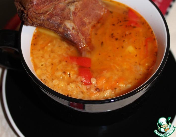 Рецепт: Чечевичный суп с копченым антрекотом