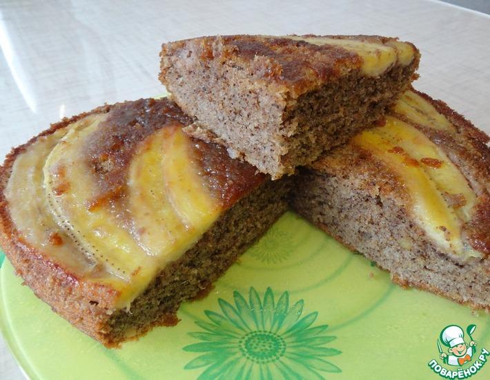 Рецепт: Бананово-миндальный пирог