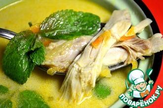 Рецепт: Тайский куриный бульон с мятой