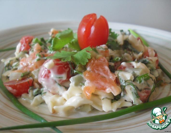Рецепт: Салат с красной рыбой