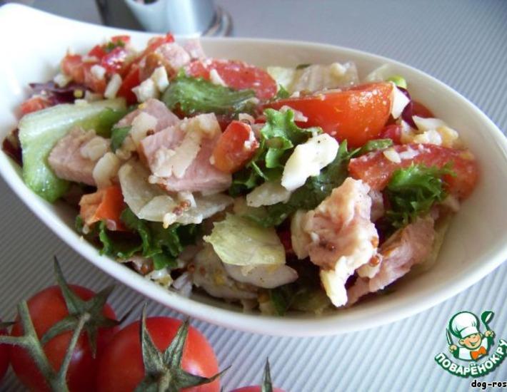 салат пикник с ветчиной и сыром помидорами рецепт