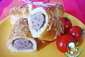 Рецепт: Брабантские хлебцы с домашними колбасками или  Brabantse worstenbroodjes