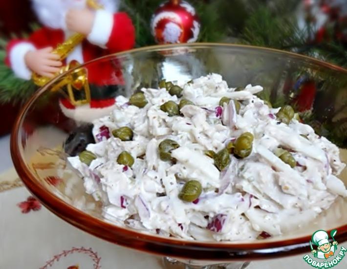 Рецепт: Мясной салат с дайконом