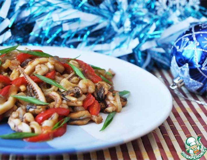 Рецепт: Закуска из морепродуктов в китайском стиле