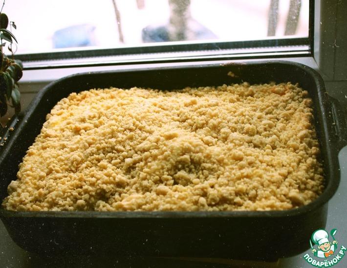 Рецепт: Творожный пирог из песочного теста